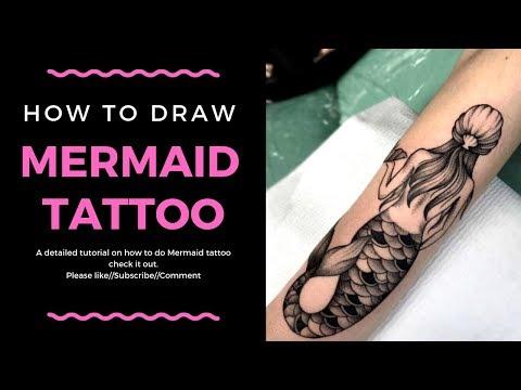 Tattoo Design//Henna: How to do Mermaid Tattoo