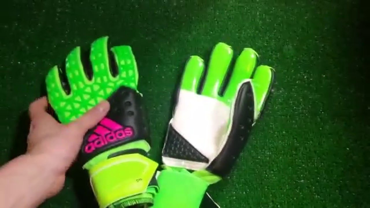 Adidas Ace Zones Pro Solor Green and Black Goalkeeper Glove Preview -  YouTube d025152b425a
