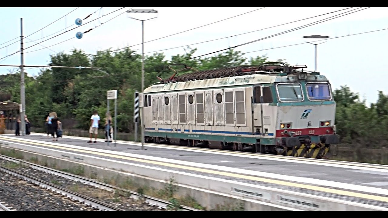 [HD - Treni] STROMBAZZATA E652.122 Mercitalia Rail in transito Isolata a Sant'Ilario d'Enza!