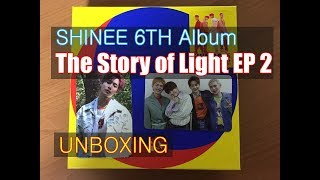 Shinee 6th album The Story of Light EP 2 unboxing
