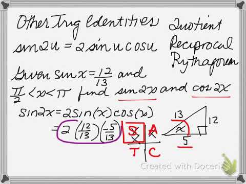 Other Trig Functions (Double Angle, Half Angle, etc)
