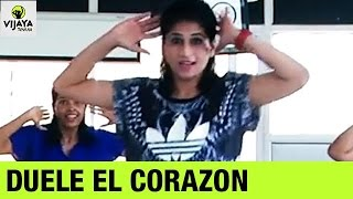 Enrique Iglesias | DUELE EL CORAZON | Zumba Dance On DUELE EL CORAZON Song | Vijaya Tupurani