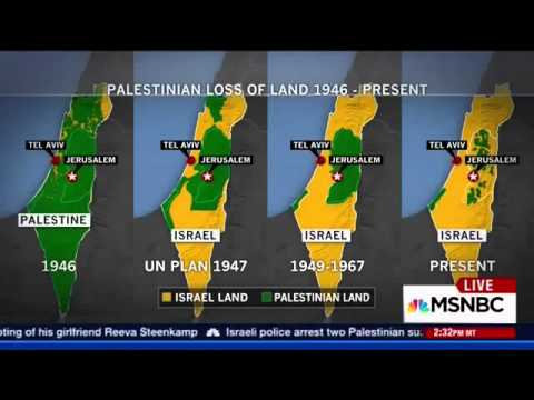 "The ""Palestinian Loss of Land Map"" on MSNBC"