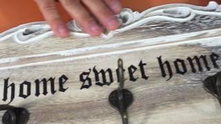 Вешалка на три крючка «Милый дом»