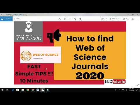 How To Search Web Of Science Journals For Your Research Paper Publish In High Impact Factor Journals