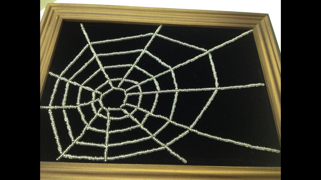 Bild Aus Perlen Spinne Im Spinnennetz Teil 12 Annas Perlen