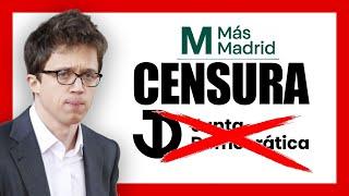 #MasMadridTieneMiedo y CENSURA el ACTO de la JUNTA DEMOCRATICA
