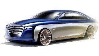 2020 Mercedes S-class design sketch