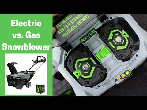 Electric Vs Gas Snowblower (review Of EGO Electric Snowblower)