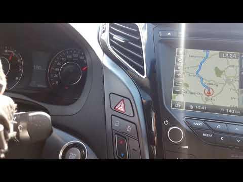 Hyundai I40 2.0 MPI, 149.6 л.с. - разгоняем на безлимитном автобане. Максимальная скорость.