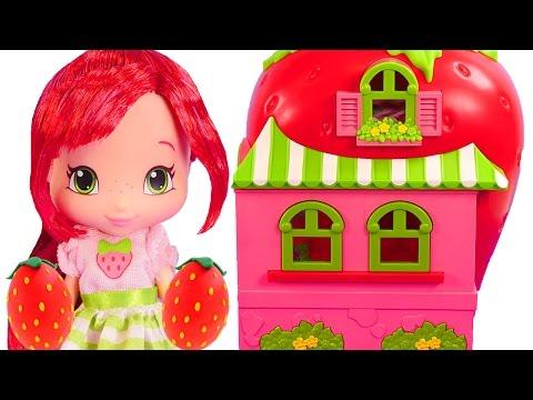 Rosita Fresita Casa De Muñecas y Cafeteria ♡ Fresa Huevos Sorpresa Play Doh