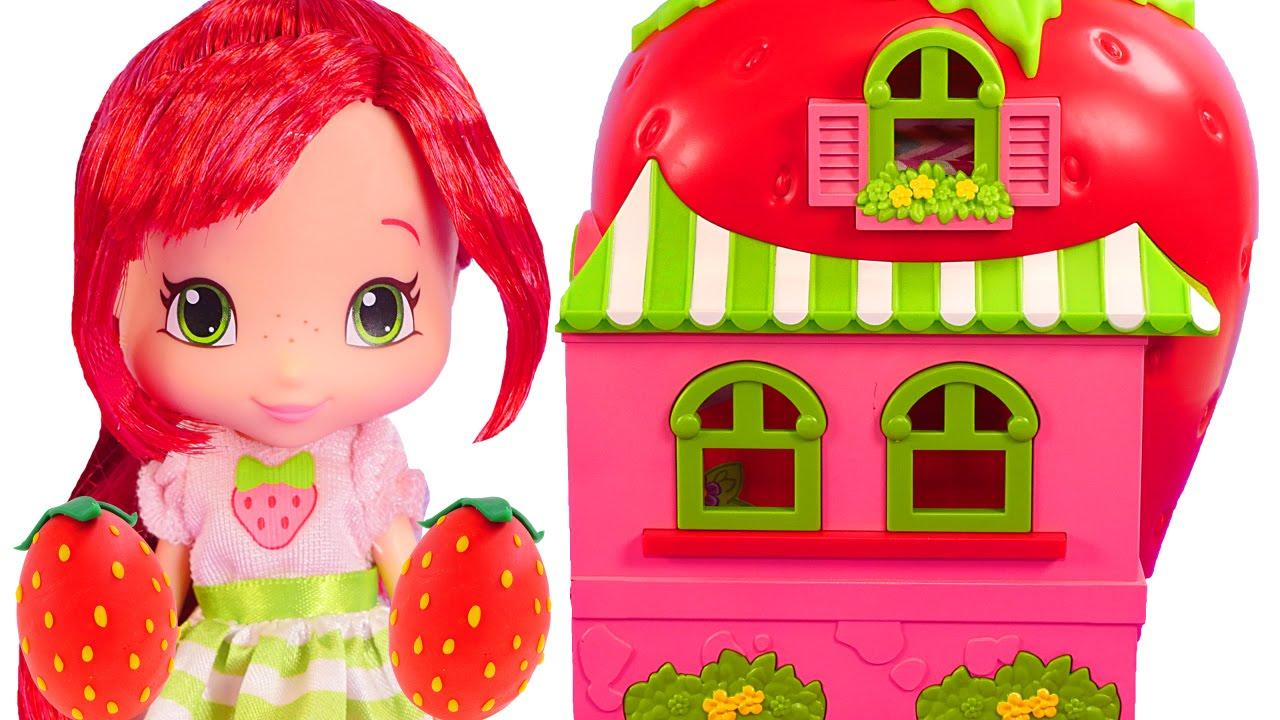 Rosita Fresita Casa De Munecas Y Cafeteria Fresa Huevos Sorpresa Play Doh