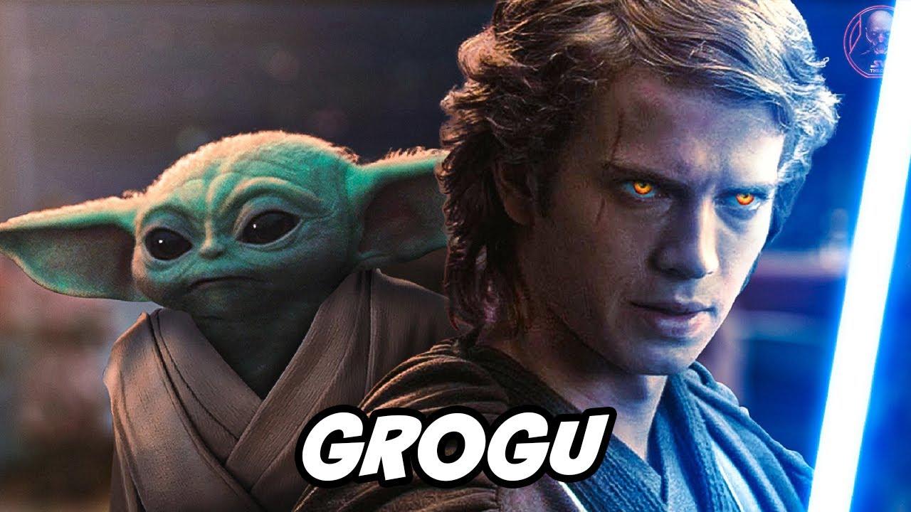 Anakin Skywalker y grogu