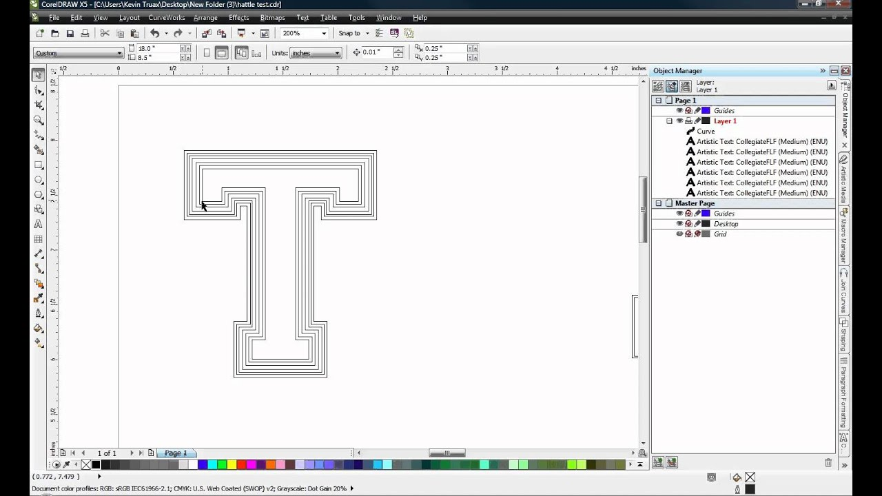 Coreldraw Outlining Fonts For Vinyl Cutting Youtube