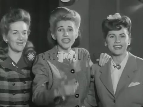 Andrew Sisters - Boogie Woogie Bugle Boy (V-Disc 1941)