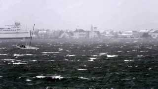 Noon boat leaving Nantucket .. 1/3/14