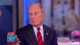 Bloomberg Talks Taxing Big Corporations, Vaping, and Trump's Name Calling | The View