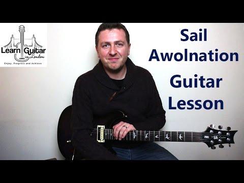 Sail - Guitar Tutorial - Awolnation - Great Guitar Riff