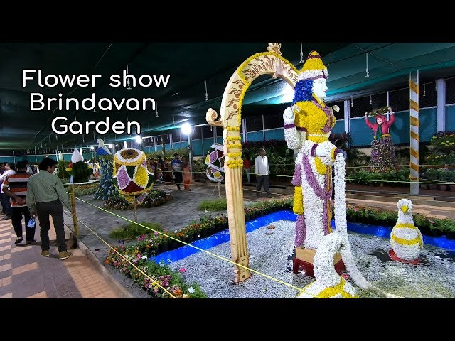 Flower show at Brindavan Garden KRS Glass House Mysore Dasara 2018 KRS Dam