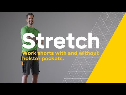 6d69e8223 Snickers Workwear - FlexiWork, Shorts (6914 + 6904) - YouTube