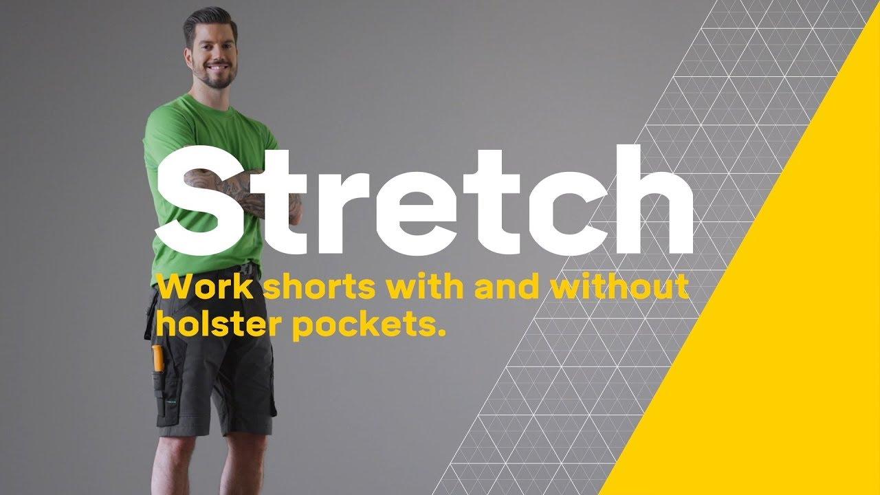 Snickers 6914 FlexiWork Work Shorts Steel Grey
