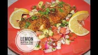 Air Fryer Fried Fish - Lemon Butter Cod - Air Fryer Recipe