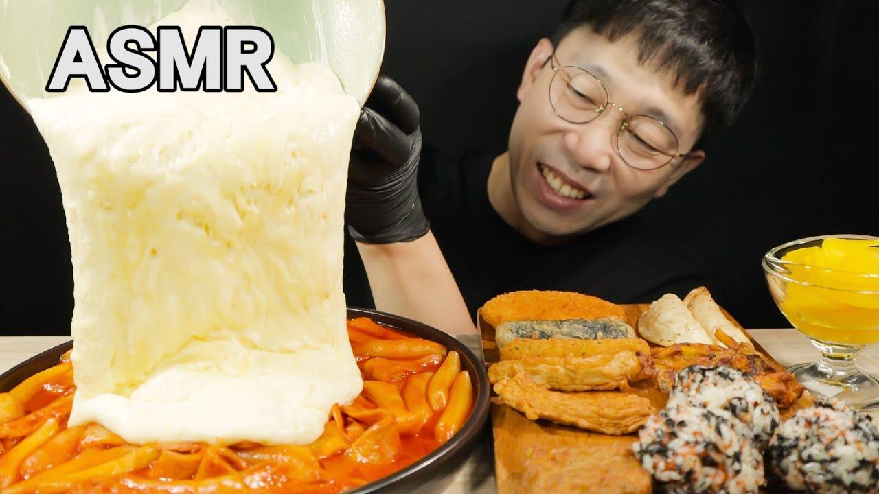 SUB) 응급실 떡볶이 혼수상태맛 Feat.모듬튀김 & 주먹밥 리얼사운드 먹방ASMR Tteokbokki Rice ball mukbang