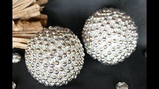 Kugel basteln mit Perlen – DIY Wohndeko zu Weihnachten – create ball with pearls – super einfach!