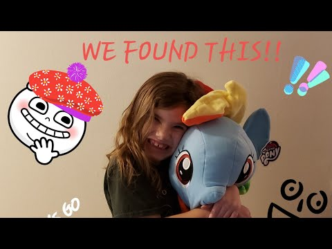 WE FOUND A GIANT RAINBOW DASH PLUSH FROM MY LITTLE PONY!!