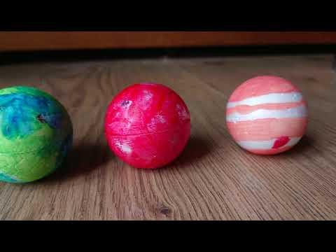 My acrylic painted solar system