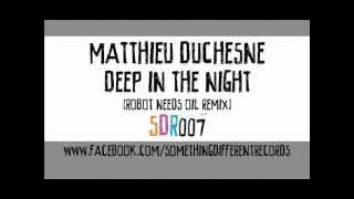 [SDR007] Matthieu Duchesne - Deep In The Night (Robot Needs Oil Remix)