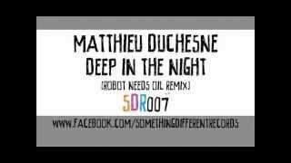 [SDR007] Matthieu Duchesne - Deep In The Night (Robot Needs Oil Remix)