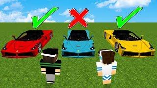 NÃO ESCOLHA O CARRO ERRADO NO MINECRAFT!!