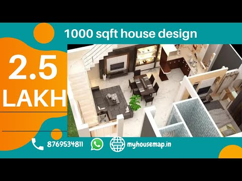 Indian Small House Interior Design Ideas | Luxuries One Bedroom Hall  Kitchen 1000 Sq Ft