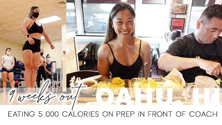 Eating 5K cal cheat meal on prep in front of coach 9 weeks out competition + Oahu Shawn Ray Seminar