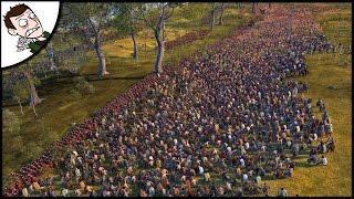 MASSIVE 20000 ROME v GAUL SURVIVAL BATTLE! Ancient Empires Gameplay (Total War Attila Mod)