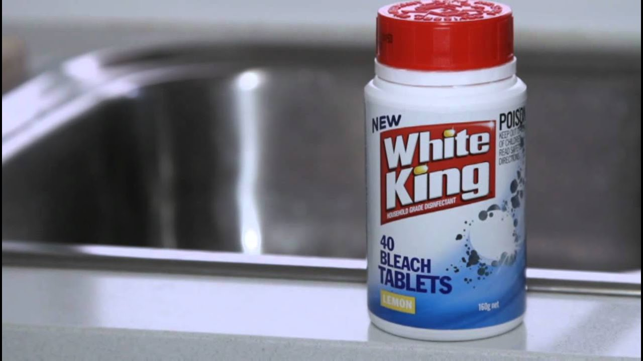 How To Clean Your Sink White King Bleach Tablets Youtube