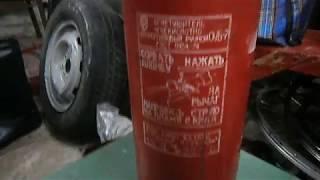 видео Огнетушитель углекислотный ОУ-7(з) ИНЕЙ (на шасси)