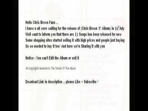 Chris Brown X Album Released songs
