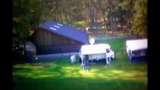 Impressie trekkers veld vanuit de lucht op camping de tol