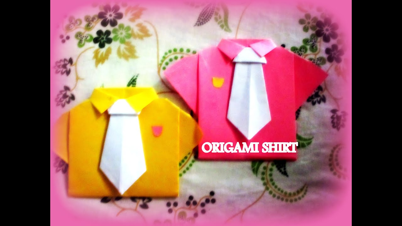 DIY Paper Crafts How To Make An Origami SHIRTS With TIE