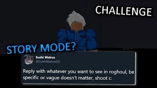 The Owner of Ro-Ghoul wants YOUR Ideas for Updates + Challenging myself in Ro-Ghoul | Roblox