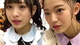 2018年03月06日 SHOWROOM 梅山恋和、溝川実来.