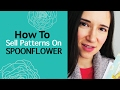 Spoonflower review. How to sell fabric pattern designs on Spoonflower fabric, wallpaper, wrapping