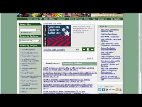 Farm Service Agency Microloans