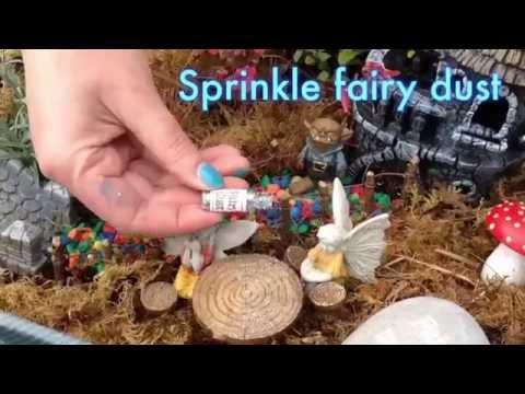 Fairy garden tutorial. How to make a miniature fairy garden in a suitcase
