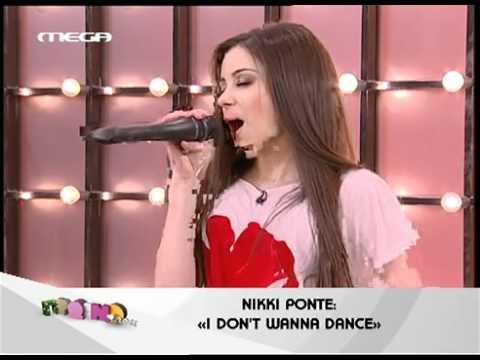 Nikki Ponte @ Prwino mou singing I Don't Wanna Dance