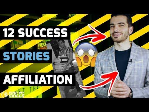 12 histoires inspirantes dans le monde de l'affiliation thumbnail