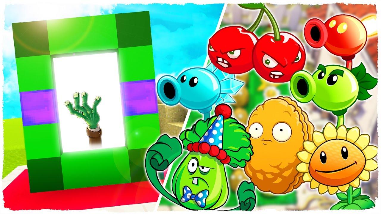 como hacer un portal a la dimensi n de plantas vs zombies
