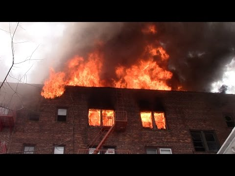 Passaic Fire Department 7th Alarm Heavily Involved 5 Story Apartment Building Fire 4-15-17